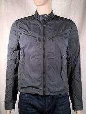 "Ralph Lauren Black Label ""Denim"" Boardtrack Racer Jacket Grey Medium NWT $795"