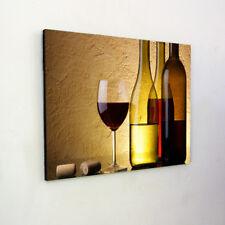 Wine Glass Bottles Wooden Wall Art - Wall Hanging -Modern, Panel Art, Wall Decor
