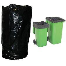 More details for wheelie bin liner x 100 black polythene refuse rubbish sacks value clean waste