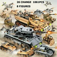 WW2 Military Wehrmacht German Soldiers 1061PCS  Building Blocks Toy Figures