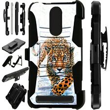 Luxguard For MicroMax T55 Phone Case Holster Stand Cover  WALKING LEOPARD