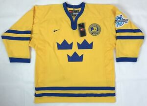 Sweden IIHF World Cup 2004 NIKE Home Hockey Jersey Men's Size M