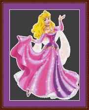 AURORA Bella Addormentata bellissima principessa Punto Croce Kit