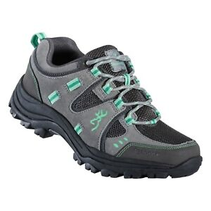 Browning Womens Buck Pursuit Trail Shoe Frost Gray/Ming