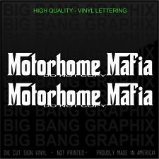 New ListingMotorhome Mafia Rv Decal Sticker Motor Coach Class A B C Super C Camper Trailer