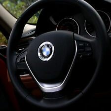 1pc Silver 45mm Steering Wheel Center Ring Cover Emblem Decor Trim For BMW Cool