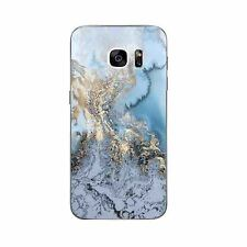 Case For Samsung Galaxy S4 S7 Edge Soft TPU Cell Phone Back Cover Skins Marble
