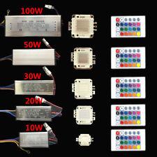 RGB led chip 10W/20W/30W/50W/100W+RGB driver 24Key Remote for floodlight bulbs