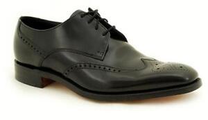 Loake Rahmengenähte Premium Herrenschuh 4 Eye Bogart Black Shoe