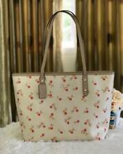 Authentic Coach City Zip Tote with Cherry Print F31971 - Chalk