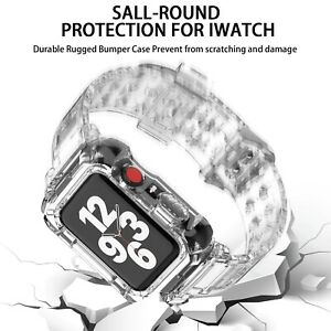 Transparent Silicone Sport Bracelet for Watch Case+band for Watch Band Correa