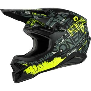 Oneal MX 2021 3 Series Ride Black/Neon Off Road Motocross Dirt Bike  Helmet
