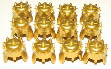 LEGO LOT OF 12 NEW RARE KINGDOMS KING HELMETS METALLIC GOLD CROWNS FOR KNIGHTS