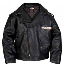Harley-Davidson Little Boys' Upwing Eagle Biker Pleather Jacket Black 0386074