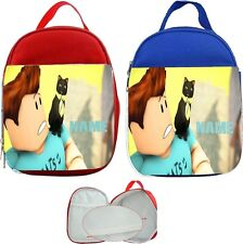 Roblox Dennis & Cat #1 Personalised Childs Lunch Bag
