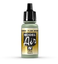 Vallejo Model Air: Interior Grey Green - Acrylic Paint Bottle 17ml VAL71.305