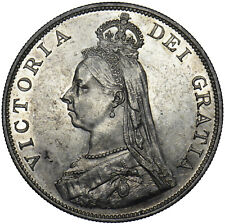 More details for 1887 double florin - victoria british silver coin - v nice