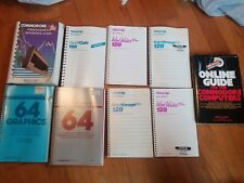 Lot of 9 commodore 64/128 manuals.