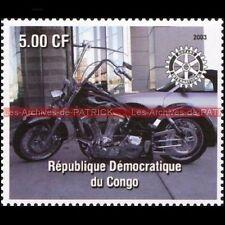 HARLEY DAVIDSON CONGO 2003 Timbre Poste Moto Stamp Stempel Sello Philatélie