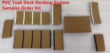 Boat Marine Yacht Synthetic PVC Teak Deck Decking System Samples Order Kit