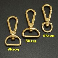 2X Solid brass bag luggage snap hook clip lobster clasps Trigger key swivel part