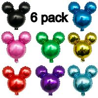 Mickey Mouse Birthday party foil balloons Party Decor 6 pcs set High Quality AAA