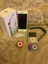 Lot Of Iphone SE And 3 Ipod Shuffle Fitbit  Band Box For iPhone 4s