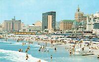 Postcard Beach and Skyline Atlantic City New Jersey
