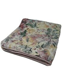 One Tapestry Bed Pillow Sham Floral King Size, Rope Trim