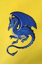 "Blue Dragon, Mythical, Fantasy, Embroidered Patch Approx Size 7.""x5"""