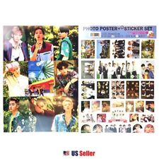 Kpop EXO High Quality Official Photo Poster & Sticker Set #13: Various 12 Sheets