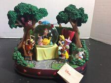 Disney Alice In Wonderland Snow Globe Mad Hatter's Tea Party Unbirthday. NEW!