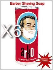 6X ARKO SHAVING SOAP STICK 6 X 75 gr - 2.64 oz. Face and Men