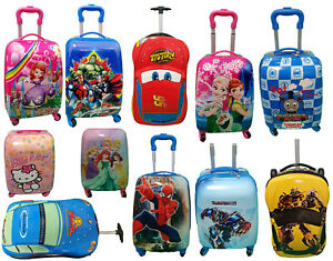 Children Kids Holiday Travel Hard Shell Suitcase Cabin Hand Luggage Trolley Bags