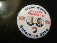 Idaho Reform Party Pin Back Presidential Campaign 2000 Button Hagelin Political