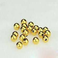 Pure New AU750 18K Yellow Gold / DIY Loose Bead For Bracelet 1PCS 3mmW