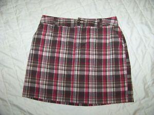 Women's St. John's Bay Skirt Skorts - Size 12 - Brown Plaid