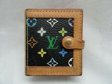 Authentic Black Multicolor Louis Vuitton Monogram M58002 Porte Photo Case