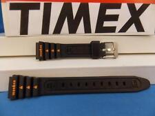 Timex Watch Band Original Ironman Ladies Black Rubber Strap with Orange Graphics