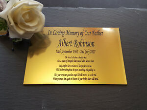 Engraved Memorial Plaque Brass silver remembrance bench plate