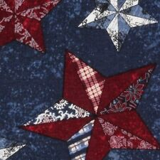 America Texas Star Blue Sewing Quilting Quilt Fabric FQ