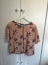 Marks And Spencer Size 12 Pink Patterned Top