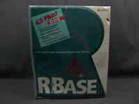 Vintage Microrim R:Base 4.5 Plus for DOS Single User New Old Stock Sealed