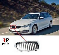 Per BMW 3 Serie F30 F31 12-16 Paraurti Anteriore Cromo/Nero Rene Griglia Dx O/