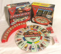 Disney Pixar Cars 2 Monopoly Board Game Lightning McQueen Hasbro *Incomplete*