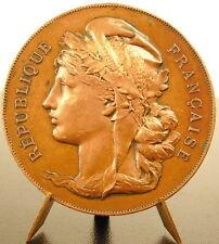 Medaille Marianne au bonnet phrygien & couronne de feuilles de chêne c1900 medal