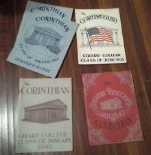 5 Vintage Girard College Year Books 1944-1947