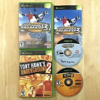 Tony Hawks Pro Skater 3 & Underground 2 Lot Original Xbox Tested 1 Manual