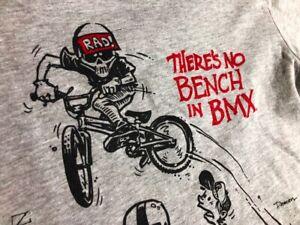 "Nowear BMX Rad Series radical Rick ""No Bench"" Youth Tee Old New School USA"