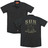 SUN RECORDS ROCKABILLY BIRD Licensed Men's Dickies Graphic Work Shirt SM-3XL